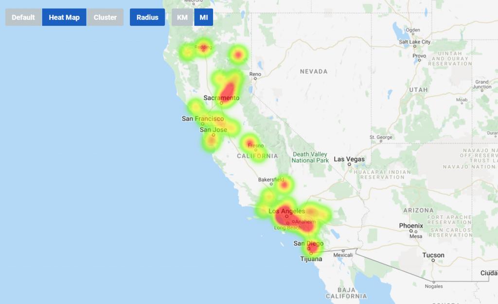 showmymap heat map function